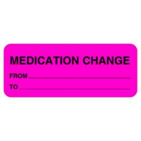 Chart Label - Medication Change