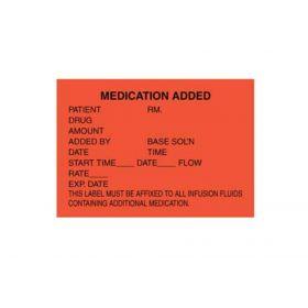 """IV Label - Medication Added - 1-3/4"""" x 2-1/2"""""""