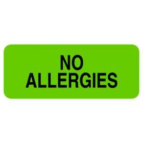 Chart Label - No Allergies