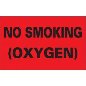 """Label - No Smoking (Oxygen) - 8"""" x 5"""""""