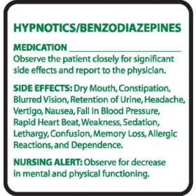 Chemical Restraint Drug Label - Hypnotics/Benzodiazepines