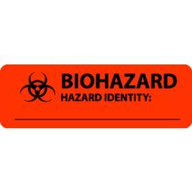"""Label - Biohazard - Hazard Identity - 1"""" 3"""""""