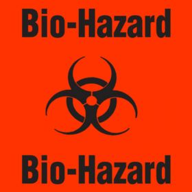 "Label - Biohazard - 6-1/2"" x 6 1/2"""