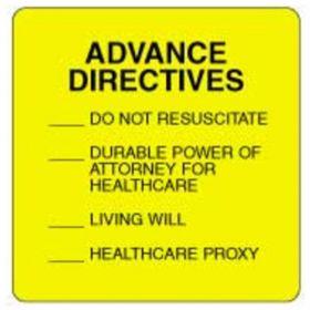 Chart Label  Advance Directives Checkoff