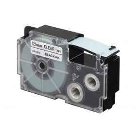 Chart Label l Printer Cartridge  18MM  Black on Clear