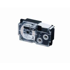 Casio Label Printer Cartridge - 18MM - Iron-On Black