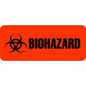 "Label - Biohazard - 15/16"" x 2-1/4"""