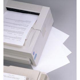 Transcription Label - Full Sheet Laser - Lightweight Stock - White