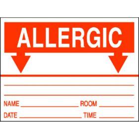 Chart Label - Allergic