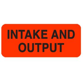 Chart Label  Intake And Output