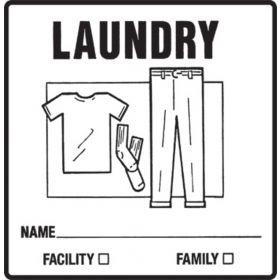 Chart Label  Laundry