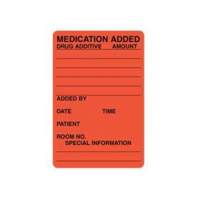 """IV Label - Medication Added - 2"""" x 3"""" L-6138"""