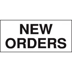 Chart Tape  New Orders