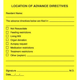 Chart Label  Location of Advance Directives