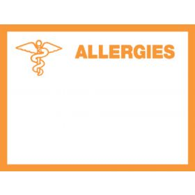 Chart Label - Allergies L-6394