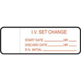IV Set Label - IV Set Change