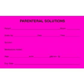 """IV Label - Parenternal Solutions - 2-1/2"""" x 4"""""""