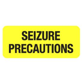 Chart Label  Seizure Precautions