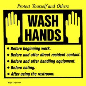 """Label - Handwashing Reminder - 4-1/2"""" x 4-1/2"""""""