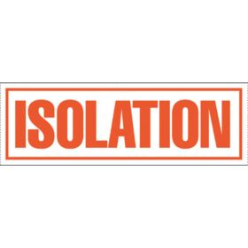"Tape - Isolation Precautions - 2"" x 6"""