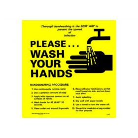 "Sign - Handwashing Reminder - Laminated - 8-1/2"" x 8-1'2"""