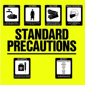 "Sign - Isolation Precaution - Standard - Laminated - 8 1/2"" x 8-1/2"""
