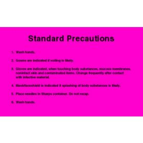 "Sign - Isolation Precaution - Standard - Laminated - 8"" x 5"""