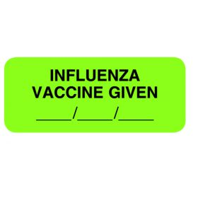 Chart Label - Influenza Vaccine Given