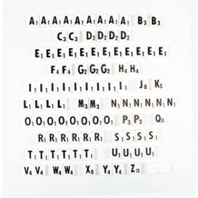 Low Vision Scrabble Pieces