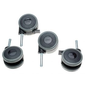 Caster Set with 2 Locking and 2 Nonlocking Casters for Medlite Beds