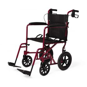 Basic Aluminum Transport Chair with Wheels