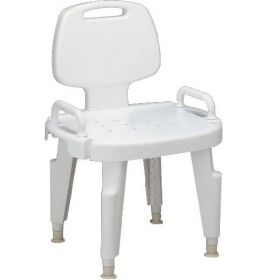 Composite Bath Bench with Back and Arms MDS89755R
