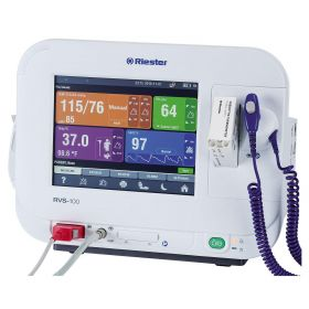 RVS-100 Vital Signs Monitor with NIBP, SpO2, and Thermometer