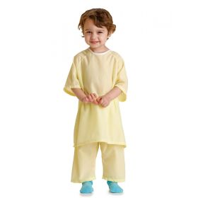 Snuggly Pediatric Gown, Solid Yellow, Size S