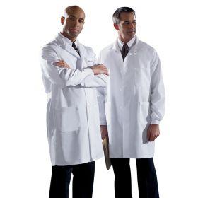 Unisex Knee Length Lab Coats-MDT12WHT44E