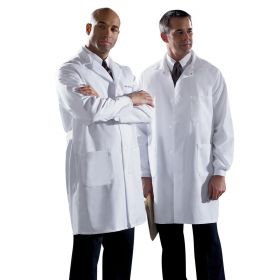 Unisex Knee Length Lab Coats-MDT12WHT54E