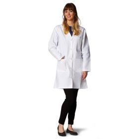 Ladies' Classic Staff Length Lab Coats-MDT22WHT34E