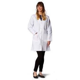 Ladies' Classic Staff Length Lab Coats-MDT22WHT4E