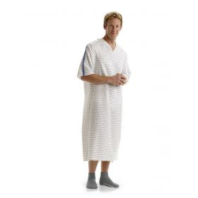 Patient IV Gown with Side Ties, Demure Print, Size 10XL