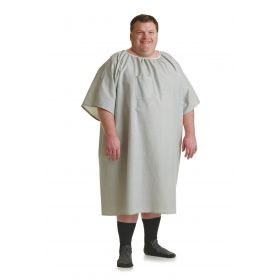 Patient IV Gown, Gray Print, Size 10XL