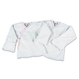 Preemie Snapside Baby Shirt, Mitten Cuff, White