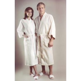 Diamond Waffle Weave Patient Robes MDTHR8D06WHI