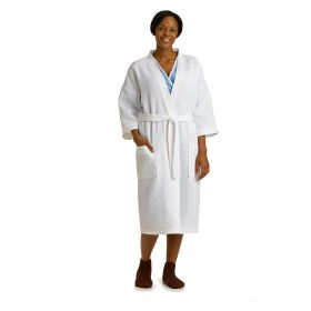 Square Waffle Weave Patient Robes MDTHR8M04WHI