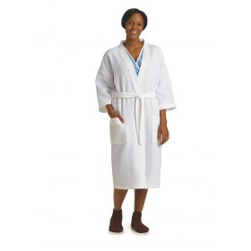 Square Waffle Weave Patient Robes MDTHR8W04WHID