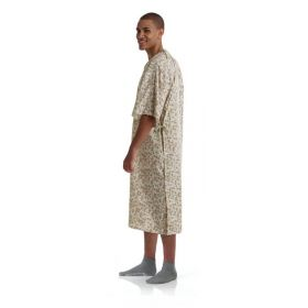 Patient IV Gown with Side Ties, Sage and Beige, 72/Case