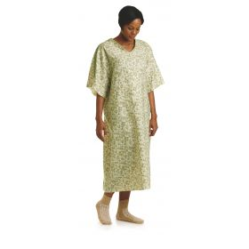 Patient IV Gown with Plastic Snap, Royale Print