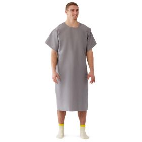 Patient Exam Gown with 3-Armhole Design, Gray