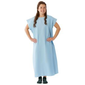 Patient Exam Gown with 3-Armhole Design, Blue