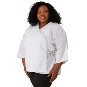 Mammography Jacket, Gray Bull's-Eye Print, Size 3XL