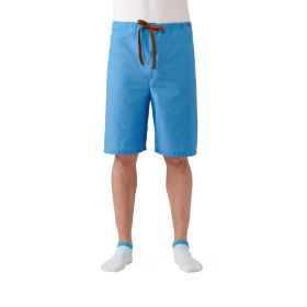 Drawstring Pajama Shorts Light Blue, Size M